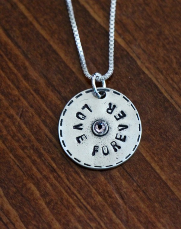 Name Circle Necklace With Birthstone Kandsimpressions