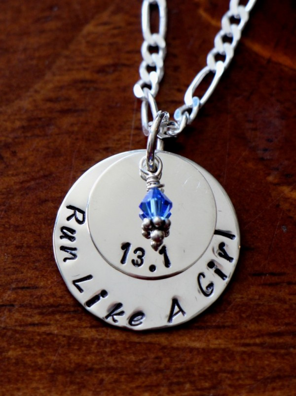 Run Like A Girl Personalized Necklace Kandsimpressions