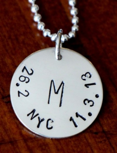 Runners Personalized Necklace Running Gift Kandsimpressions