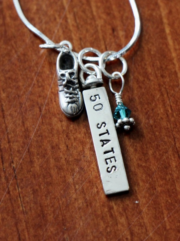 Runners Personalized Necklace Kandsimpressions