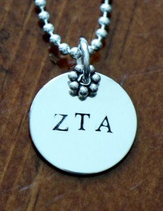 Sorority Greek Initial Necklace