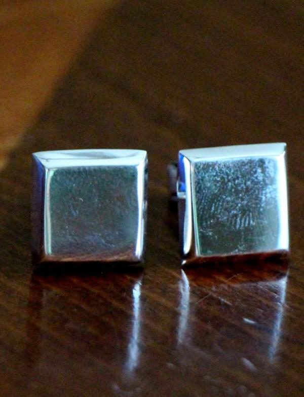 Sterling Silver Square Cufflinks Kandsimpressions