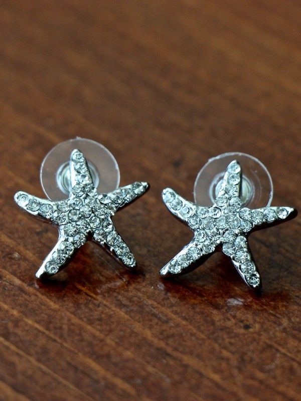 Starfish Earrings Sterling Silver Kandsimpressions