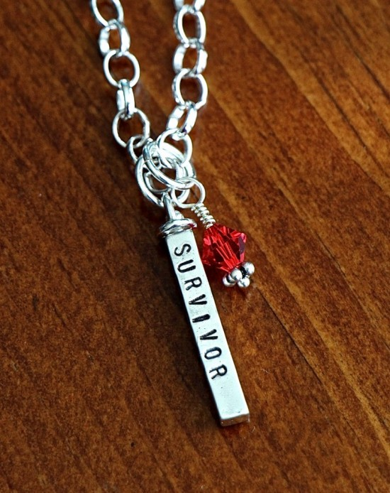personalized cancer survivor necklace