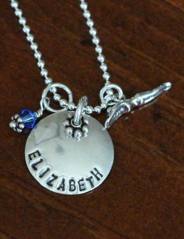 Personalized Swimmer Charm Necklace Gift Kandsimpressions