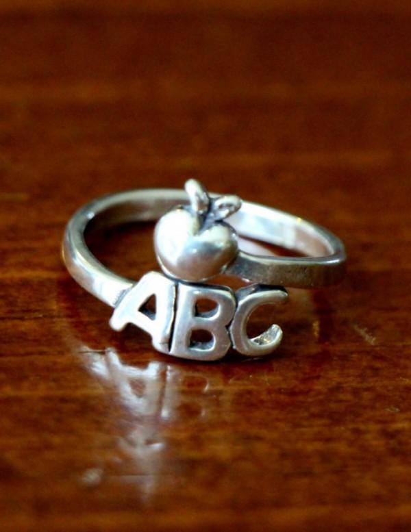 Teacher Ring Teacher Jewelry Gift Kandsimpressions