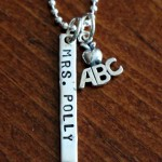 Teacher Name Bar Necklace