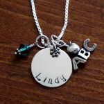 Teacher Personalized Necklace- ABC apple charm