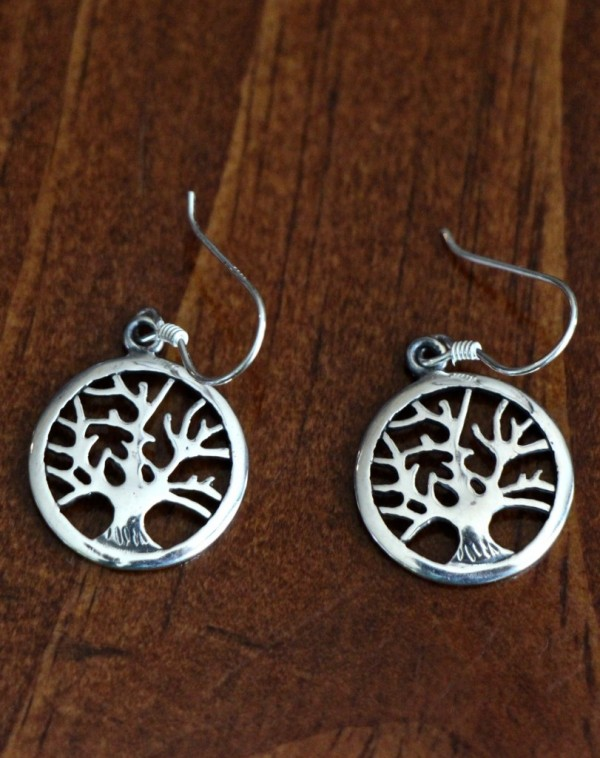 Tree of life earrings yoga
