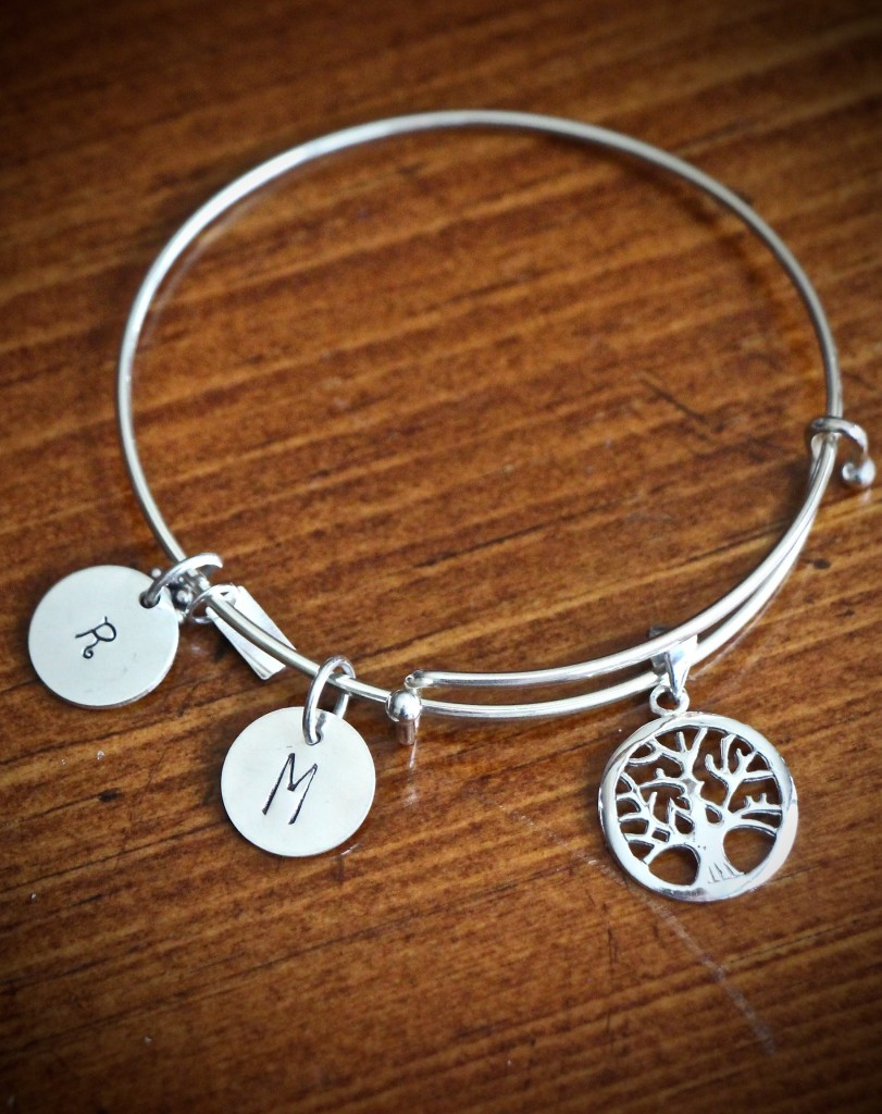 grandmothers Tree of life initial bracelet