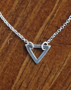 Triangle Necklace- Silver