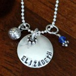 Volleyball Name Necklace- Coaches gift