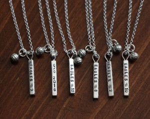 Volleyball Team Personalized Name Necklace