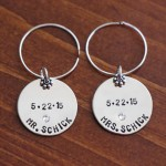 Wedding anniversary personalized wine charms