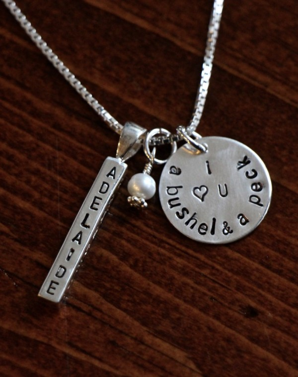 Mothers bushel and a peck name necklace