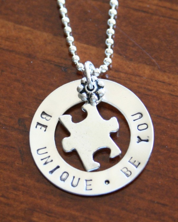 Puzzle Piece Autism Necklace Be You Kandsimpressions