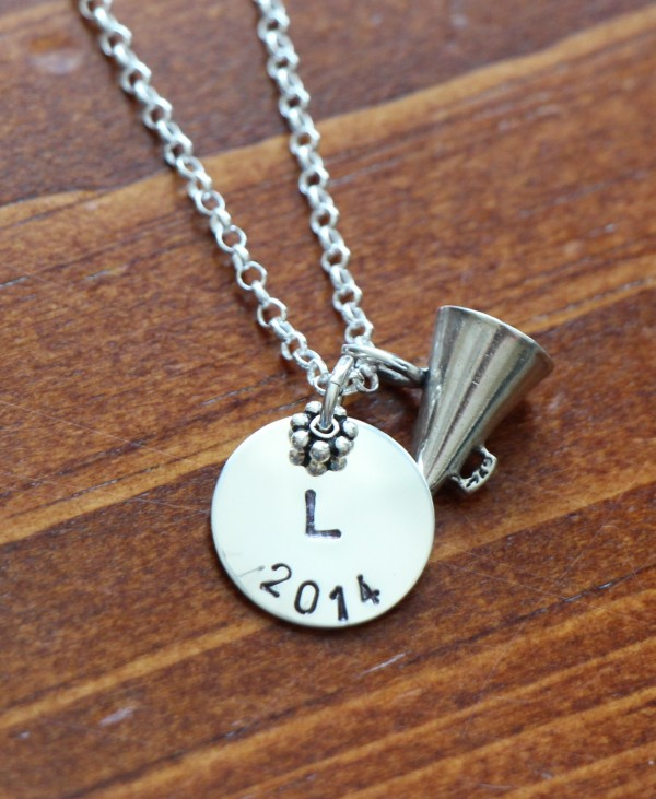 Cheerleader personalized Necklace graduation gift senior