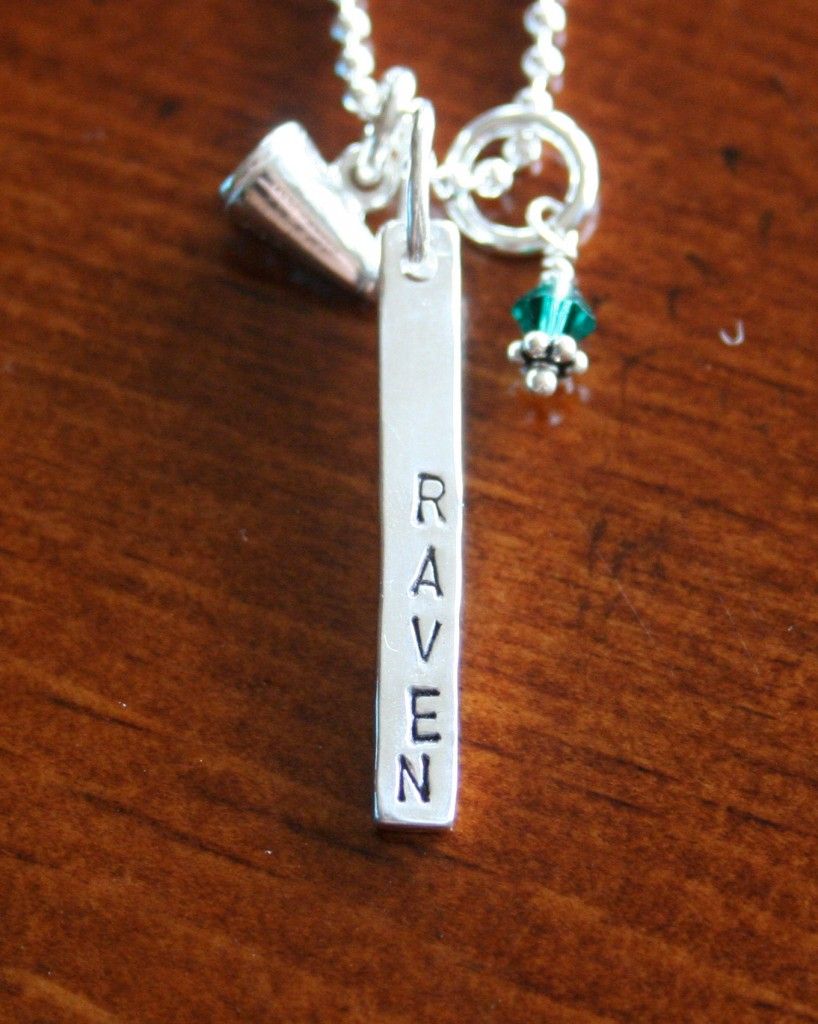 Cheerleader Name Necklace Cheer Gift Kandsimpressions