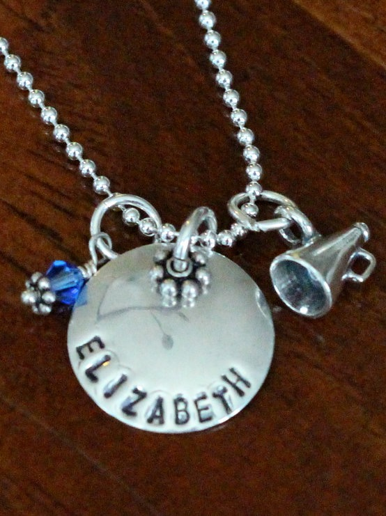Cheerleaders Personalized Name Necklace Kandsimpressions