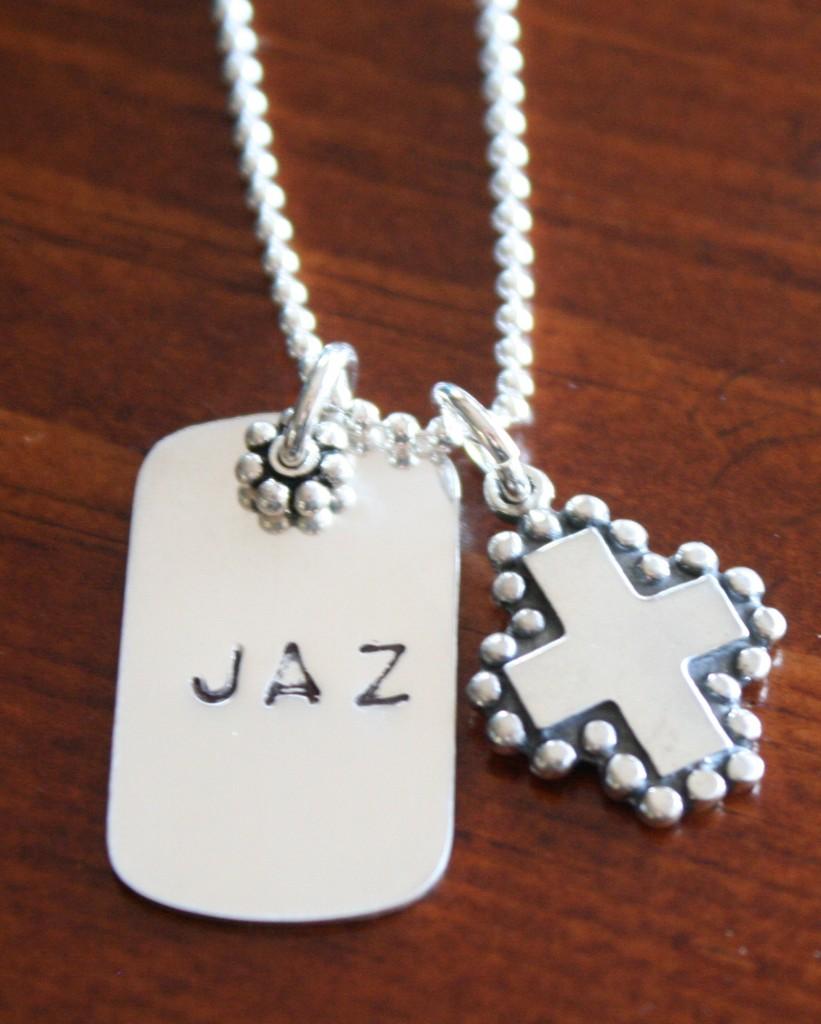 Christian Charm Bracelets: Cross Charm- Christian Faith Jewelry