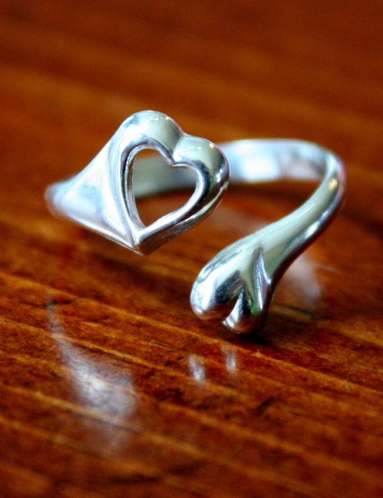 tow Heart ring couples promise ring