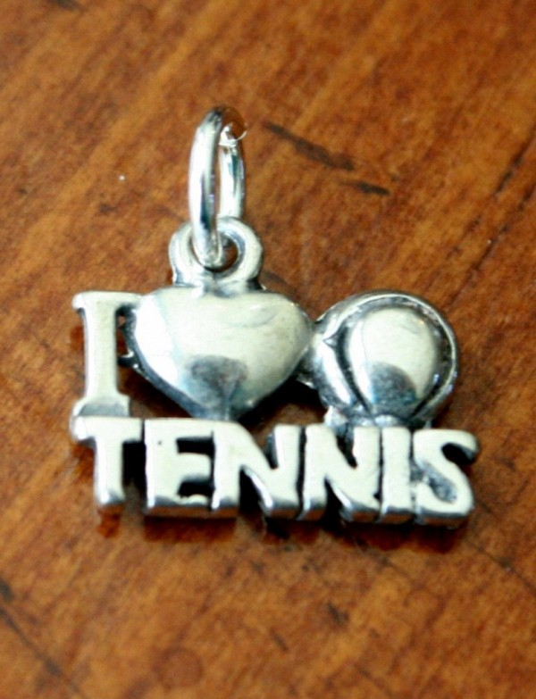 tennis player gift I love tennis charm