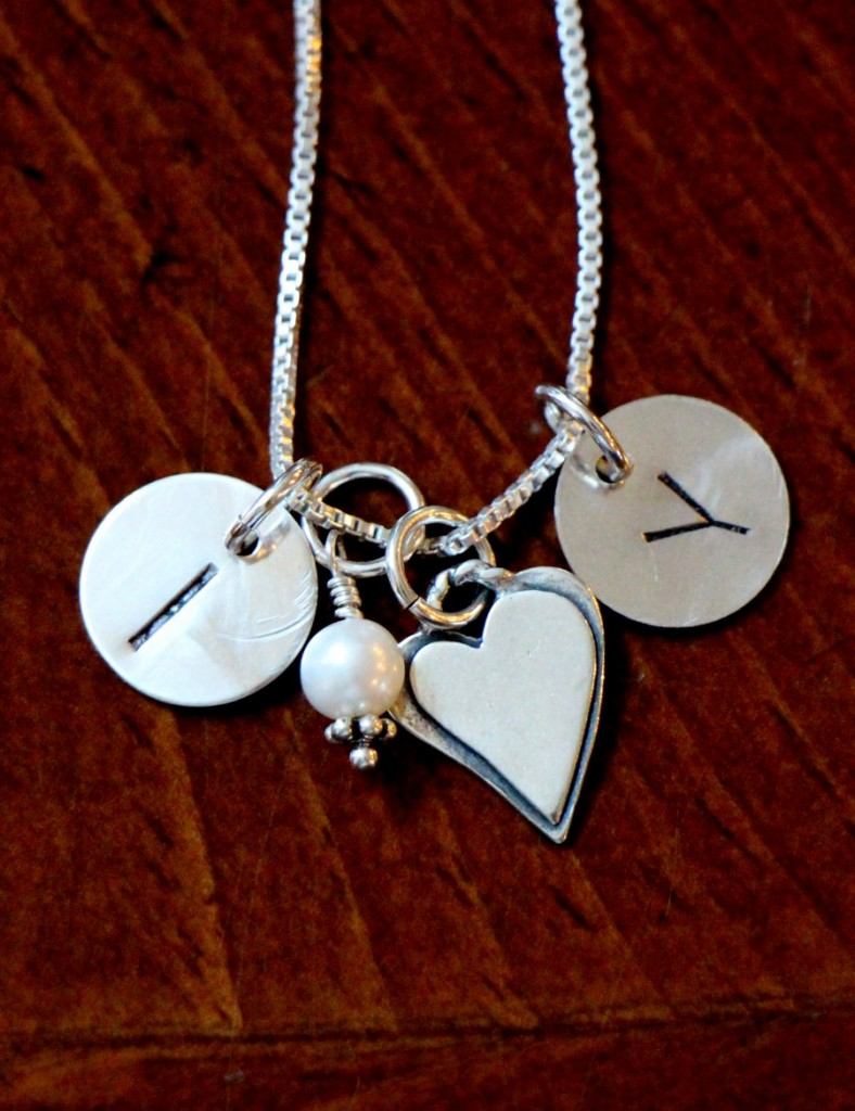 initial Heart Couples Necklace