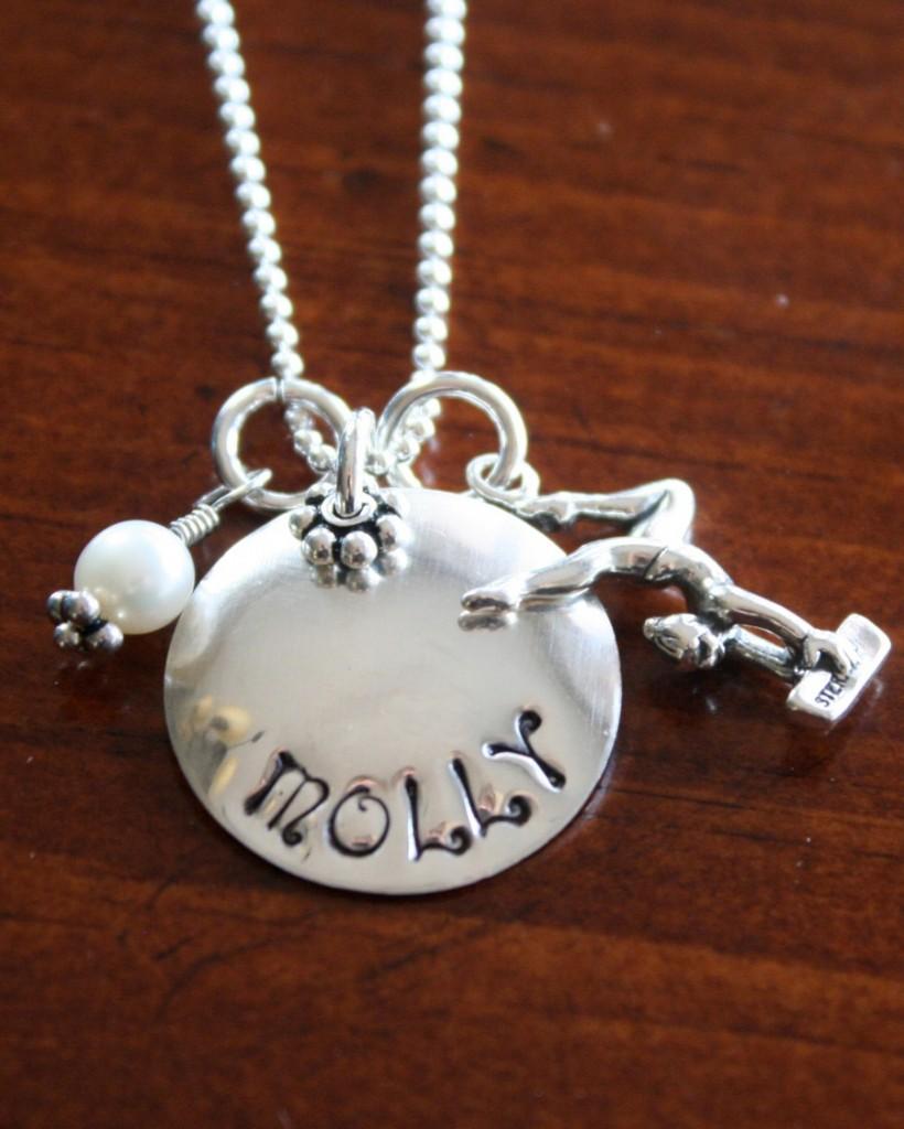 Locket Charm Bracelet: Gymnastics Charm- Gymnast Jewelry