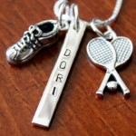 Personalized Tennis Name Necklace- Tennis Shoe