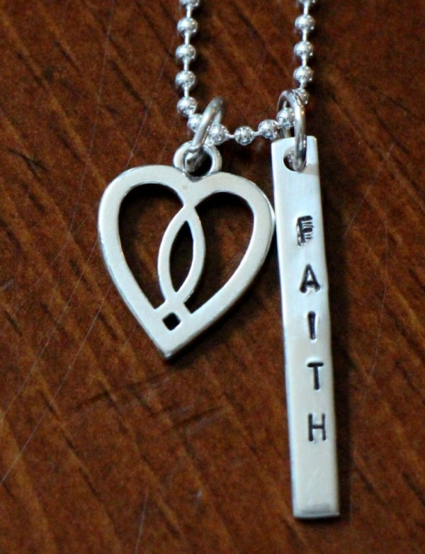 Ichthus fish name bar christian necklace kandsimpressions for Christian fish necklace