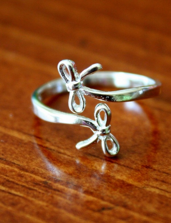 Ribbon Ring Bow Ring Birthday Gift Kandsimpressions