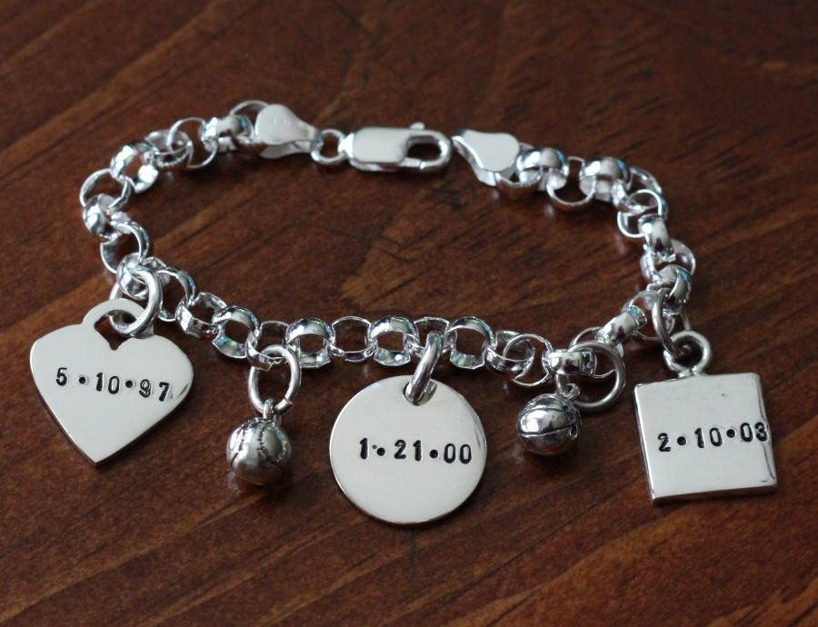 name charm bracelet thick charms kandsimpressions