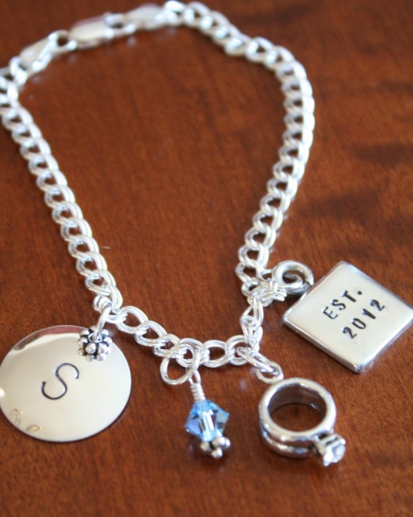 Anniversary Personalized Charm Bracelet Kandsimpressions