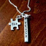 Autism Name Necklace- Teachers Necklace