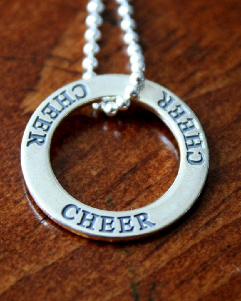 Cheer Necklace cheerleader gift