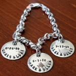 Couples Name Date bracelet