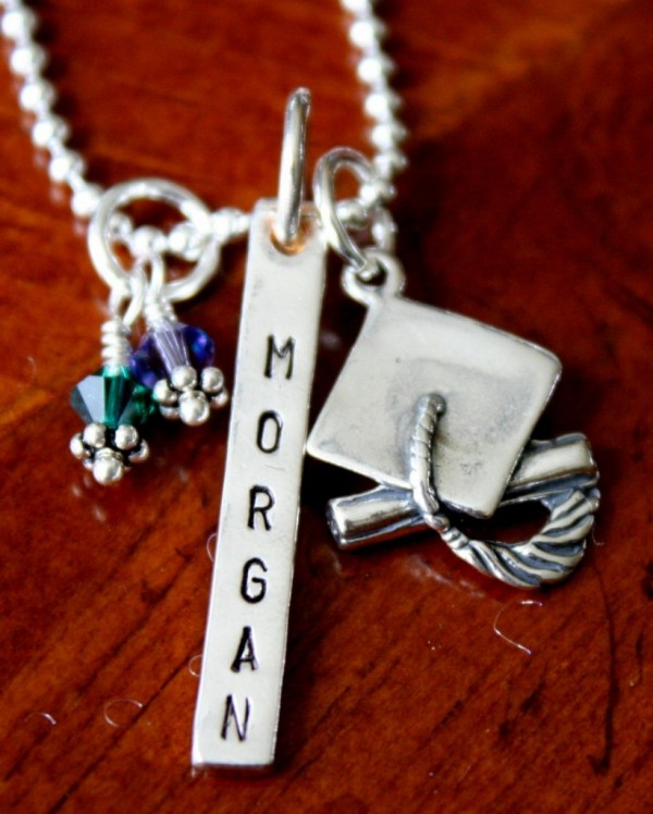 Graduation Name Necklace- School Necklace