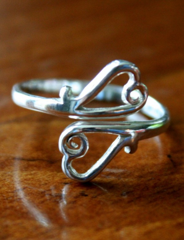 Heart Ring Two Open Hearts Kandsimpressions