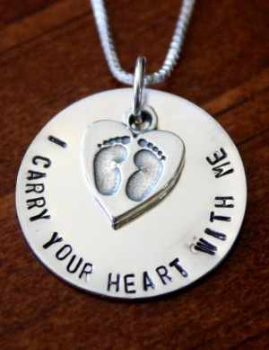 Pregnancy Infant Loss Memorial Necklace Kandsimpressions