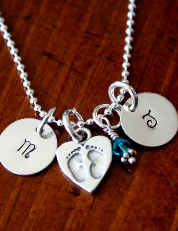 mom of twins necklace push gift