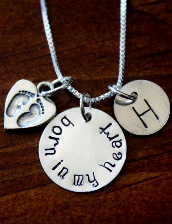 Adoption Necklace Born In My Heart Kandsimpressions