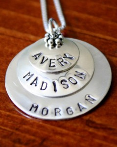 Layered Name Necklace- Layers of love Mothers Necklace