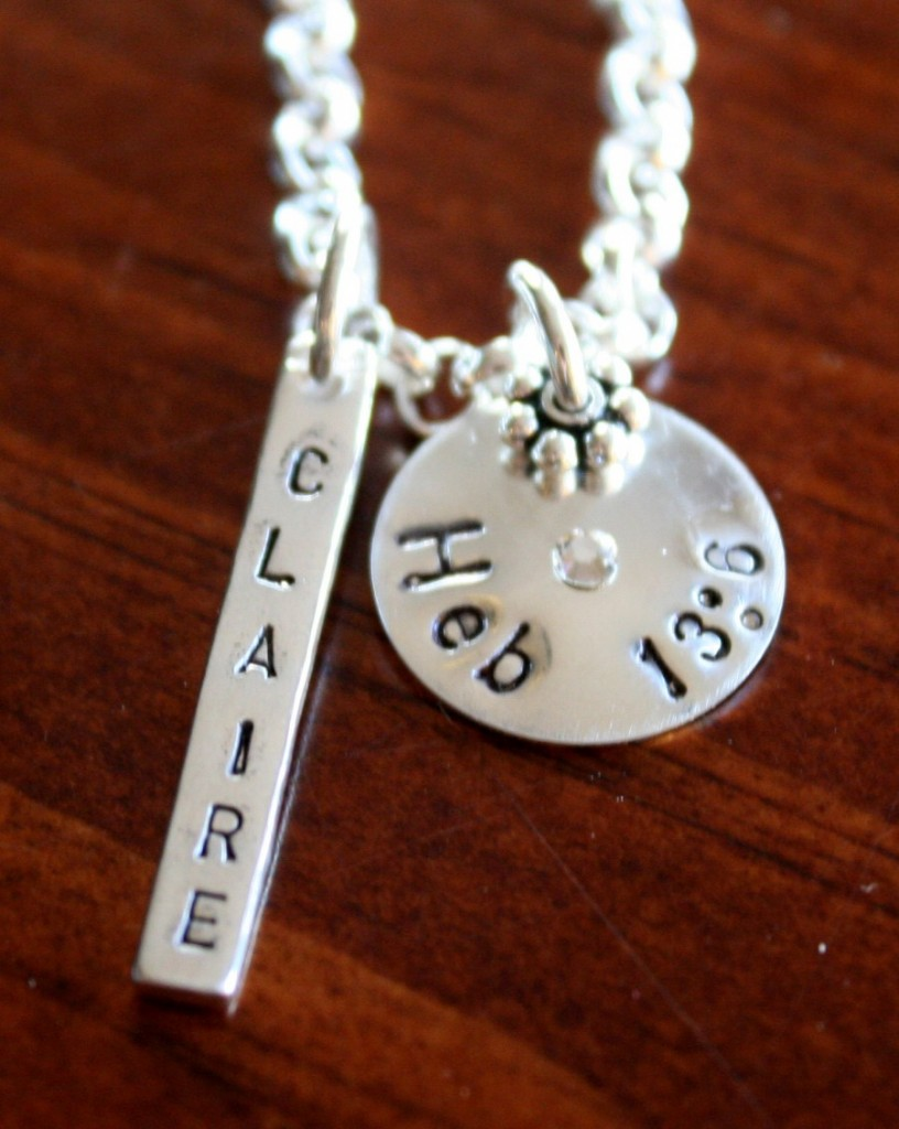 Scripture Necklace Personalized with Name kandsimpressions