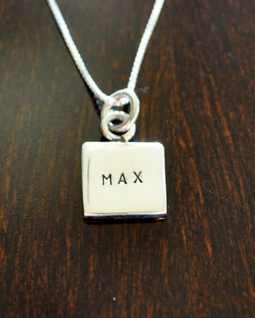 Square Name Charm Hand Stamped Kandsimpressions