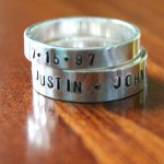 Stackable Personalized Name Rings