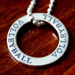Volleyball Necklace- Washer Affirmation