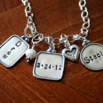 Wedding Anniversary Name Date Necklace