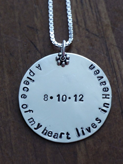 loss of spouse gift A piece of my heart lives in heaven necklace