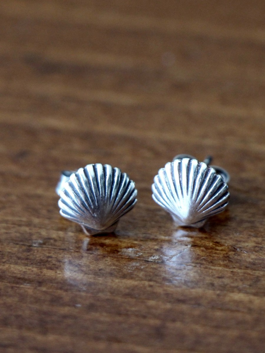 Clam Shell Earrings Sterling Silver Kandsimpressions