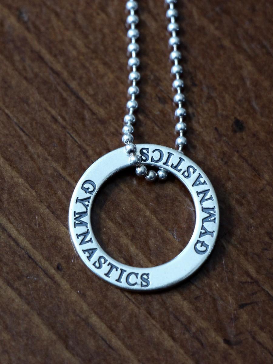 Gymnastics Necklace Gymnast Jewelry Gift Kandsimpressions